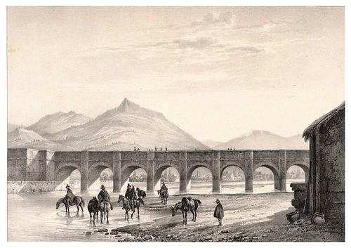 004-Puente de Santiago sobre el rio Mapocho-Chile-Journal de la navigation autour du globe… 1837-Barón de Bouganville-fuente BOTANICUS