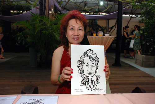 Caricature live sketching for Mark and Ivy's wedding solemization - 4