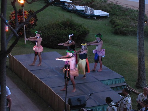 the dancers onstage