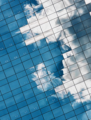 Pixel Cloud (Crazy Ivory) Tags: city blue portrait urban cloud white reflection building texture nature public glass station canon fence reflections grid mirror belgium zoom cloudy capital central cyan structure pixel tele brussel tamron18200mm brusselscentral canoneos40d gettygermanyq2 gettygermanyq3 gettygermanyq4