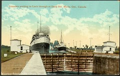 Steamers waiting to Lock through at Sault Ste. Marie, Ont., Canada (Toronto Public Library Special Collections) Tags: toronto ontario ships locks soo steamer laker saultstemarie specialcollections tpl torontopubliclibrary