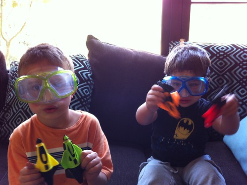 Goggles and aqua racers!