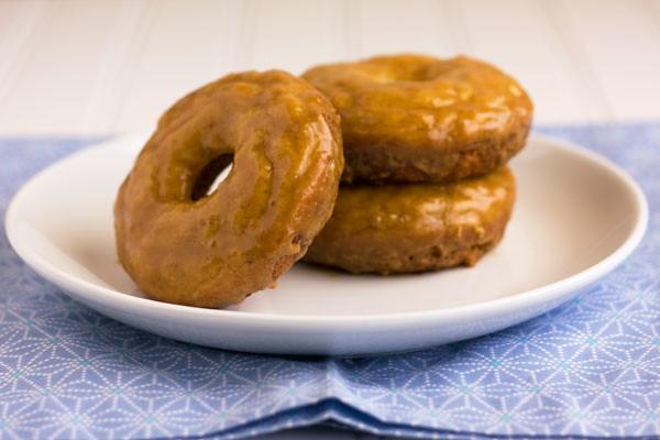 Baked Donuts with Espresso Glaze