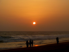 Beach (Jay fotografia) Tags: ocean life sunset sea people sun india tourism beach nature kerala trivandrum godsowncountry thiruvanathapuram jayasankarmadhavadas