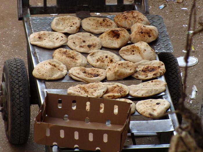 Egptian Street Food - Arabic Bread