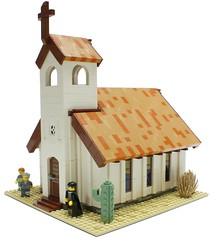 Western Town Church (Matija Grguric) Tags: church cowboys lego creation western wildwest diorama americanwest moc matijagrguric