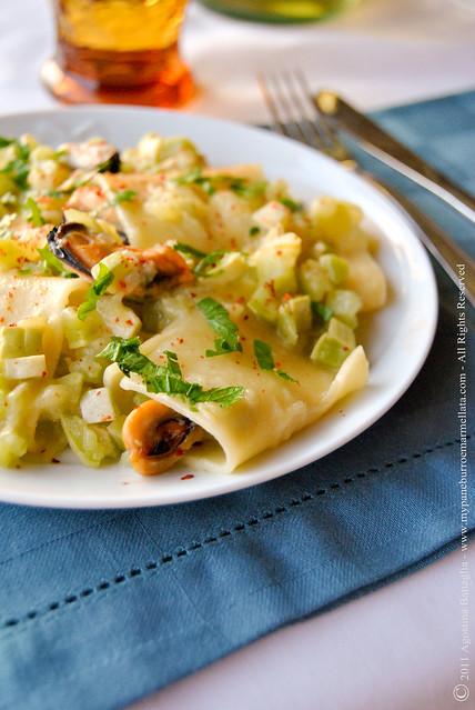 schiaffoni zucchine e cozze pp