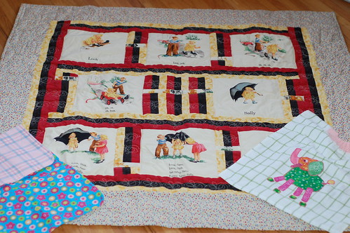 Quilt, Bib, and Changing Pad