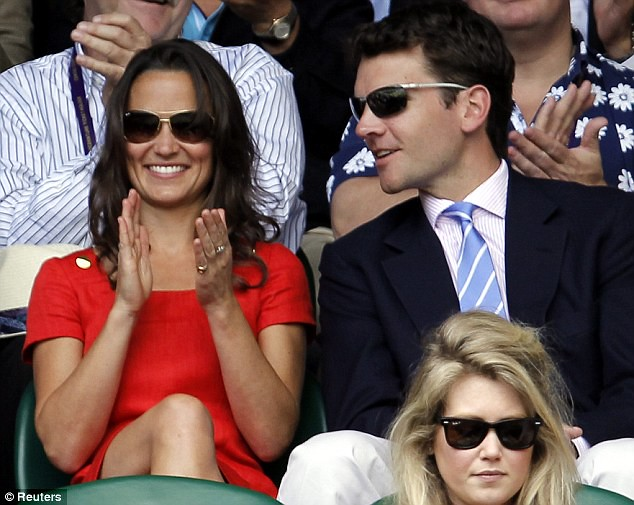 Pippa Middleton ends speculation of a break-up as she and boyfriend Alex Loudon arrive at Wimbledon  7