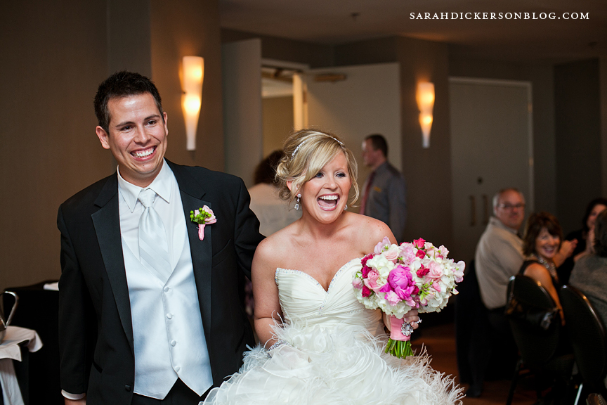 Crowne Plaza Kansas City wedding reception photos