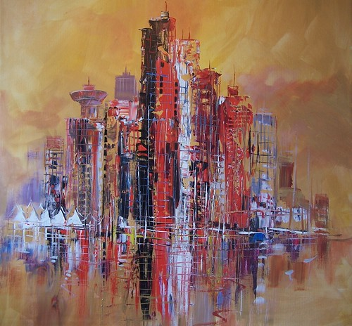 Vancouver - Painting - Abstract Impressiionism