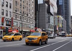 New York Yellow Taxi #1 (Miss Moo!) Tags: new york nyc usa newyork apple architecture america nikon cityscape unitedstates manhattan broadway timessquare empirestate 1855mm statueofliberty topoftherock ellisisland libertyisland yellowtaxi thebigapple d5000 nikond5000