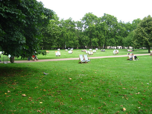 Deckchairs in St James's Park