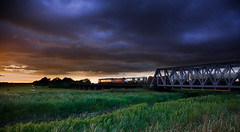 Midsummer Nights Freight (Martyn Fordham) Tags: sunset summer day longest ouse railways mid freight washes 66080