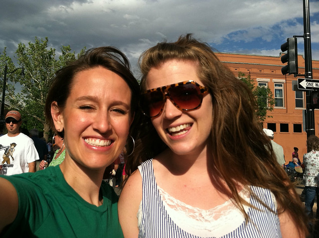 Wend and I at Farmers' Market