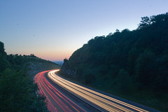M40 (ciao_chao) Tags: longexposure sunset traffic motorway 5d m40 lighttrail 1740mmf4l