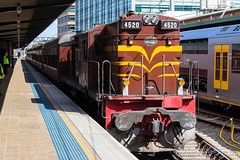 4520 + 3642 Shuttles -2303 (Matty 8o) Tags: railway railways rail train trains enthusiast travel travelling trainspotting new south wales newsouthwales nsw australia australian photograph photo photography transport transportation canon700d canon 700d outdoor vehicle spotter spotting trainspotter trainphoto trainphotography railwayphotography weather sydney suburb mainline 1855mm 1855 syd central 45 class 4520 ae goodwin auburn dieselelectric alco 12251c operational preserved
