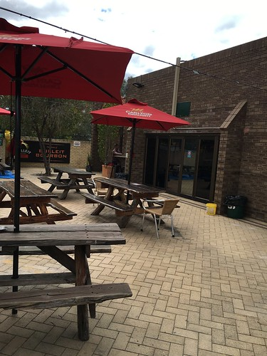 Mel's got the beer garden looking good. Drop on down for a beer and bite!