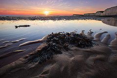 Sea Kelp Sunset (-*HJS*-) Tags: beach beacheslandscapes canon clouds coast colours cliffs chalk canonwater dusk eastsussex england fullframe hopegap landscape leefilters lowlight manfrotto ngc nationaltrust ocean rocks reflection rockpools sea seascapes sky sunset splash sussex seaweed tripod tide water waves 5dmk2 2016 1635mm sand