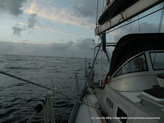 Looking back (niennte) Tags: sailing atlantic theboat feb8 thepassage