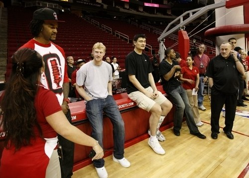 March 24th, 2011 - Yao Ming and his teammates make an appearance at Toyota Center to thank Houston Rocket season ticket holders for their patronage