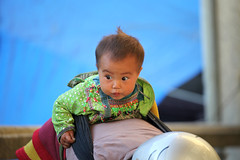 New generation (stevech) Tags: morning baby mountain cold flower color girl back women village market hill sunday cai tribe lao sapa hmong bacha