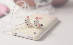 (little relax bear ) Tags: cute japan japanese stereo kawaii ear headphones earbuds iphone rilakkuma sanx