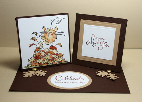 double twisted easel card by newkidfish (Cathy A)