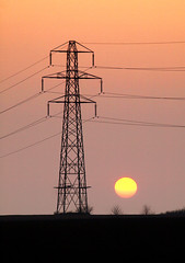 Solar power (Mr Grimesdale) Tags: sunset pylon solarpower stevewallace mrgrimesdale