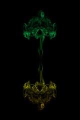 Oaklandish (MikeMcGeePhoto) Tags: lighting art photoshop nikon smoke flash smoking blackground saturation gradient effect hue incense strobe d7000