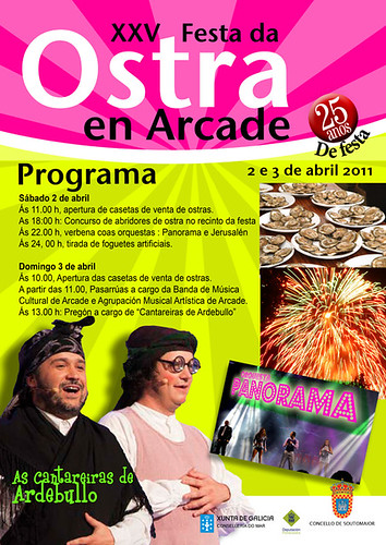 Soutomaior 2011 - Festa da Ostra de Arcade - cartel