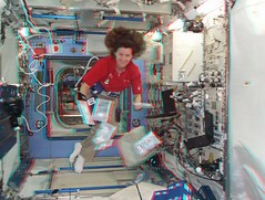 Cady in Kibo (magisstra) Tags: 3d astronauts iss esa cadycoleman internationalspacestation europeanspaceagency expedition26 expedition27
