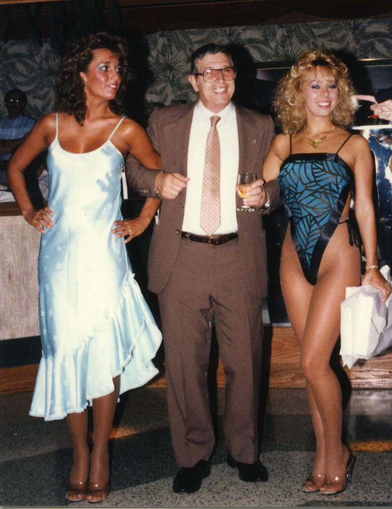 "Larry ""LW"" Mamone with new friends, 1987"