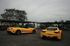 599 GTO and 458 Italia parking up (Supermac1961) Tags: sussex supercar goodwood saywell worldcars april2011 saywellsupercartrackday petersaywell ferrari458italia goodwoodmotorracingcircuit goodwoodsussex ferrari599gto