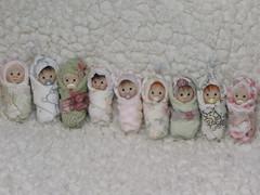 The Nursery Is Full Again! (ElfinHugs) Tags: miniature doll handmade ooak clay tiny babydoll bjd puki lati bundlebaby