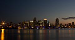 Miami Skyline (skippys1229) Tags: longexposure sunset canon miami dusk southflorida watsonisland 2011 sflorida sfla miamiskyline miamidadecounty portofmiamibridge rebelt1i t1i canonrebelt1i