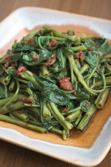 Stir Fried Chinese Kangkong with Sambal Sauce