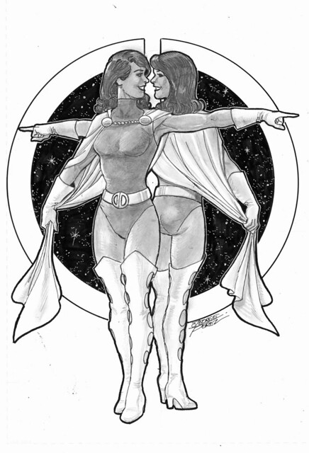 Duo Damsel commission by George Perez