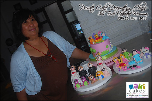 Kursus Birthday Cake- Ibu Trish Cupcake Momma___ - at Maki Cakes