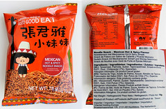 Noodle snack, mexian hot & spicy