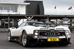 Originality. (Alex Penfold) Tags: camera white black cars alex sports car yellow horizontal canon four photography 50mm photo cool track day shot image awesome stripe picture fast super ps peter international exotic photograph hyper mm carbon f18 18 50 supercar goodwood numberplate exotica zonda b1 exhausts supercars aog pagani penfold 2011 saywell 60d hpyer b1aog