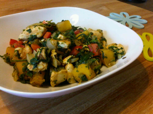 Pumpkin spinach chicken