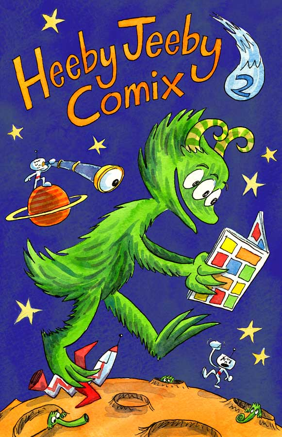 Heeby Jeeby Comix 2 Dan Moynihan Tags Monster Illustration Comics Watercolor Reading