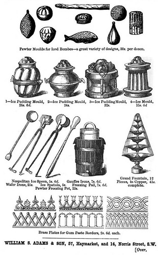Molds from The Royal English and Foreign Confectioner Chas Francatelli 1862