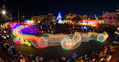 Main Street Electrical Parade in Town Square (explore) (CodyWDWfan) Tags: world street vacation usa night square town orlando mainstreet long exposure florida sony magic main kingdom disney parade fisheye disneyworld wdw waltdisneyworld walt electrical 8mm magickingdom bower townsquare spectromagic mainstreetusa lakebuenavista themagickingdom mainstreetelectricalparade a700 samyang spectro msep rokinon prooptic dslra700