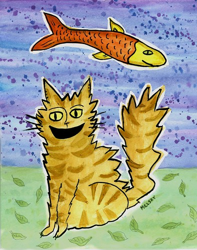 Cat and Fish Resist by Melsky