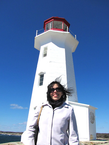 Jamie at Peggy's Cove, Nova Scotia