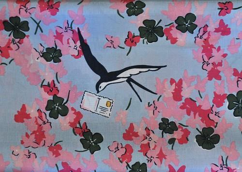 Cherry blossom raw silk