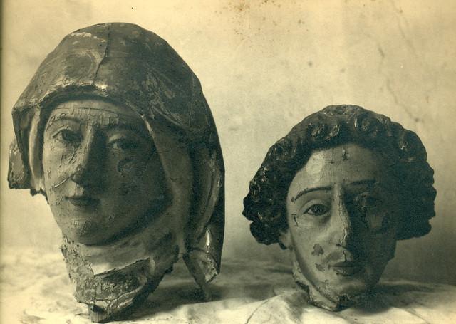 Esculturas del Convento de las Concepcionistas destruidas en la Guerra Civil. Fotografía de Pelayo Mas Castañeda. Causa de los mártires de la persecución religiosa en Toledo