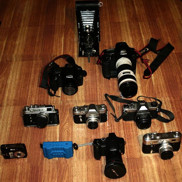 Coleção de câmeras